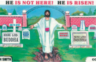 He Is Not Here - Postcard