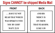 Scripture Sign - Matthew 22:31 and Luke 1:50