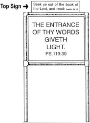 Top Sign for Scripture Sign