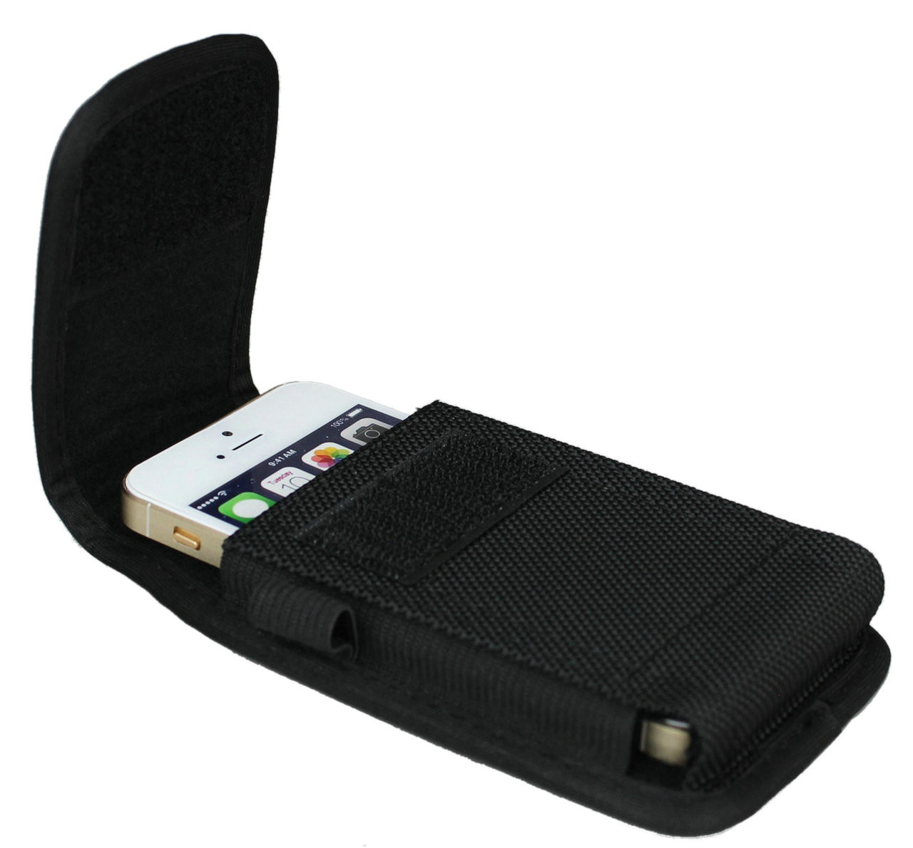 Iphone 5s holster aubaddy vertical nylon pouch holster with belt larger more photos freerunsca Choice Image