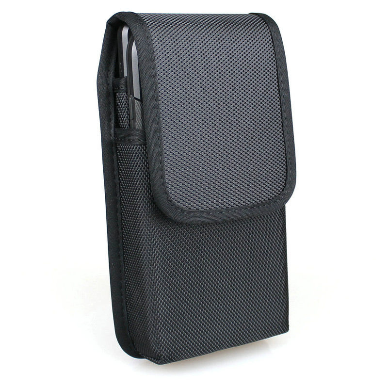 save off e46d6 ce059 Vertical Dual Phone Holster Pouch Case for iPhone Xs Max, iPhone XS/XR,  iPhone 8 Plus, Samsung Note 9, Galaxy S9 Plus, Nylon Double Decker Belt  Case ...