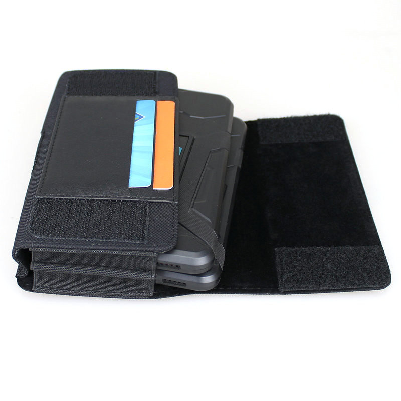 new concept 01ae0 1dd22 Horizontal Dual Phone Holster Pouch Case for Two Phones, Nylon Double  Decker Belt Clip Case for 2 iPhone Xs Max, 8 Plus, Samusng Note 8/9, Galaxy  ...