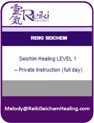 Seichim Healing Level 1 – Private Instruction (full day)