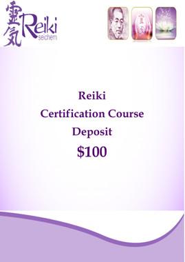 Reiki Certification Course Deposit