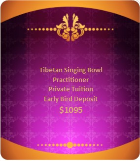 Tibetan Singing Bowl Private Tuition Early Bird $1095