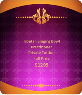 Tibetan Singing Bowl Private Tuition Full Price $1295