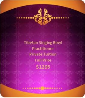 Tibetan Singing Bowl Private Tuition Full Price $1295