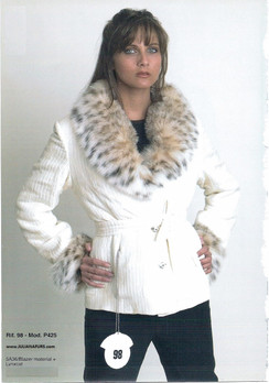 Silk Jacket, Lynx Collar, Lynx Cuffs