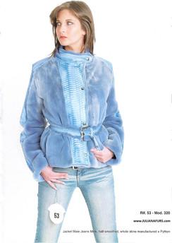 Blue Jeans, Semi Sheared Mink Jacket, Python Trim