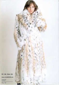 Canadian Lynx Coat. Shawl Collar