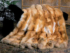 Red Fox Fur Blanket