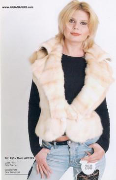 Dyed Cream Rex Bolero Vest