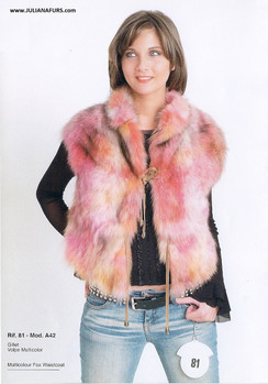 Multicolored Fox Sectioned Vest