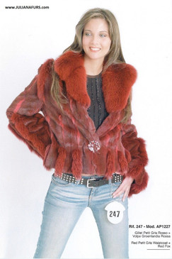 Dyed Red Fox and Squirrel Jacket