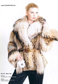 Natural Lipi Cat and Silver Fox Jacket