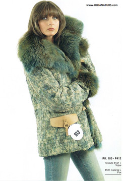 Dyed Fox Fur Trimmed Coat, Fabric Outer