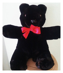Dyed Black Shearling Teddy Bear