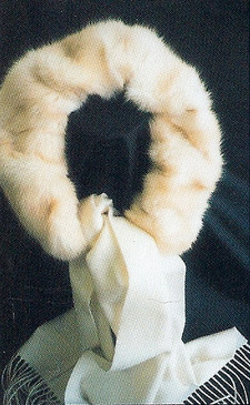 Cream Colored Mink, Silk Scarf