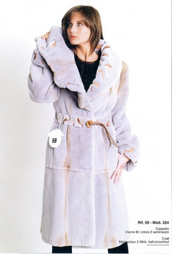 Dyed Lavender Sheared Mink Coat