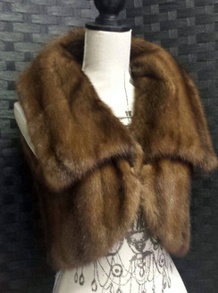 Light Brown Mink Bolero Vest