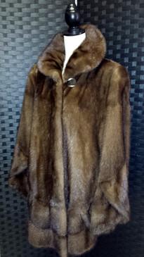 Light Brown Mink, full flare, cross cut jacket.