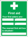 Nearest First Aider Sign