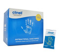 Clinell Anti-Bacterial Hand Wipes (100 Sachets)