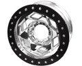 17in Aluminum Beadlock Wheel  (8 on 170mm w/4.25in BS)  Black Segmented Ring