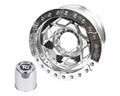 17in Aluminum Beadlock Wheel  (8 on 170mm w/4.25in BS)  Clear Satin Segmented Ring