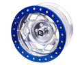 17in Aluminum Beadloclk Wheel  (5 on 5.50in w 3.75in BS)  Clear Satin Segmented Ring