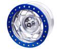 17in Aluminum Beadloclk Wheel  (6 on 5.5in w 3.75in BS)  Blue Segmented Ring