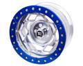 17in Aluminum Beadloclk Wheel  (6 on 5.5in w 3.75in BS)  Clear Satin Segmented Ring