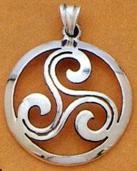 Three Spirals Celtic Pendant