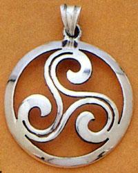 Three Spirals Celtic Pendant