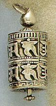 Prayer Wheel Pendant, Sterling
