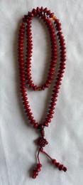 Red Lotus Seed 111 bead mala, 8mm