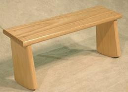 Meditation Bench - out of stock -- A plain wood meditation bench without any cushion or padding.
