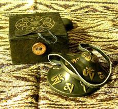 Tingsha Bells Embossed, Om Mani symbols