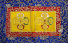 Brocade Altar Shrine cloth, with double dorjes
