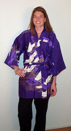 Swans in Flight Happy Coat Kimono