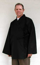 Unisex Half-length Kimono, also called a guest robe is perfect for zendo seeshins, meditation practice clothing or on retreat. They fit over other clothing, adding warm in winter.