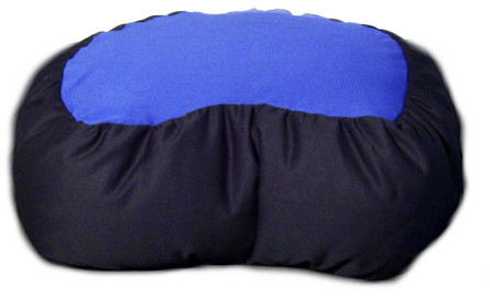 Half moon crescent meditation cushion comes in a two tone color choice.