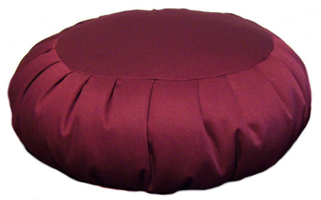 Extra large zafu meditation cushion comes in a variety of colors.