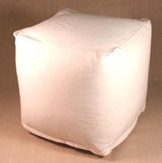 Bean Bag Ottoman - Cotton Cube