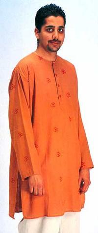Indian Cotton Om Kurta shirt