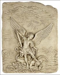 Archangel Michael Slaying the Devil statue