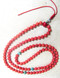 Red Coral Stone Mala made from high-quality 6mm Coral beads, with 3 Turquoise stone resting bead spacers in between sterling silver rings.