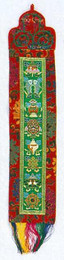8 Auspicious Symbols banner, LG -- A beautiful addition to any home or office. Makes a wonderful gift.