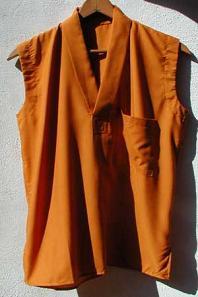 Pull over sleeveless meditation shirt, mustard yellow