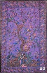 Tree of Life Purple bedspread, single size, made from easy care Indian cotton. Affordable bedspreads which add color and life to any bedroom.